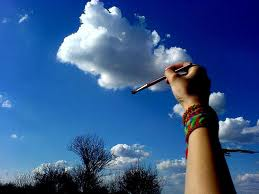 painting a cloud