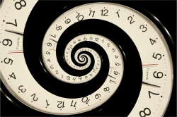 time and golden spiral